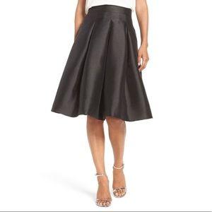 Eliza J Black Pleated Full Skirt Size 6